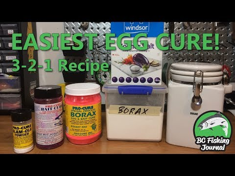 How To Cure Salmon Eggs With Borax, Sugar & Salt (3-2-1 Recipe)