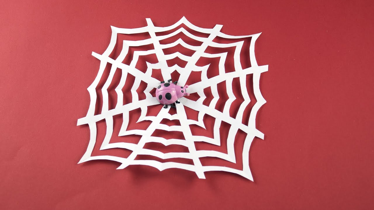 Paper Spider Craft - How to make a 3d Spider out of Paper - Red ... | 720x1280