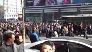 牡丹江桦林橡胶厂1500员游行