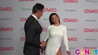 2018 AVN Awards Red Carpet Interview with Co-Host Angela White