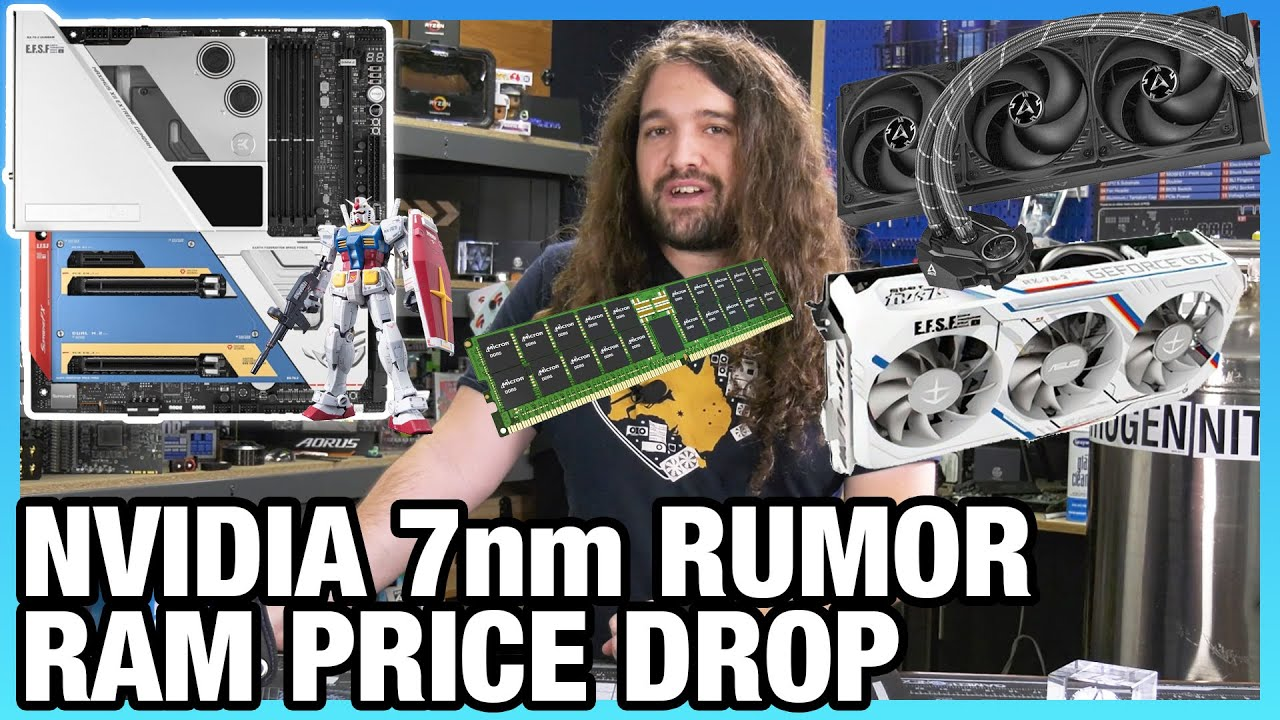 HW News - NVIDIA Considering 7nm RTX GPUs, RAM Price Down-Trend, ASUS Gundam PC Parts - Gamers Nexus