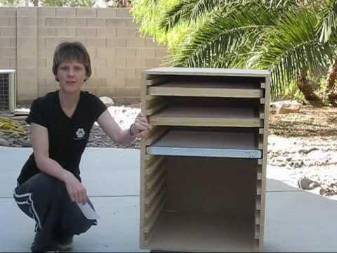 Home Built Screen Drying Rack - YouTube