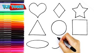 shapes drawing toddlers draw easy drawings learn fun kid paintingvalley