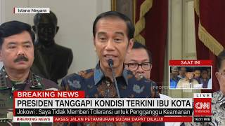 Presiden Jokowi Tanggapi Kondisi Terkini Ibu Kota
