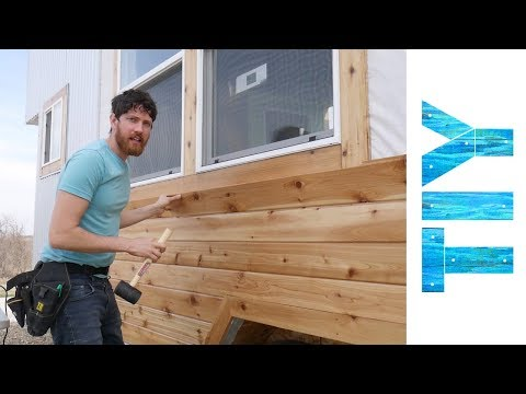 Installing Cedar Siding On Our Tiny House