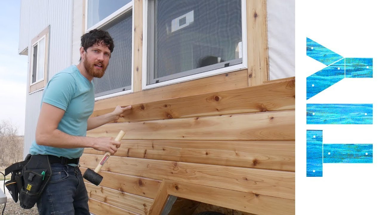 Installing Cedar Siding On Our Tiny House You