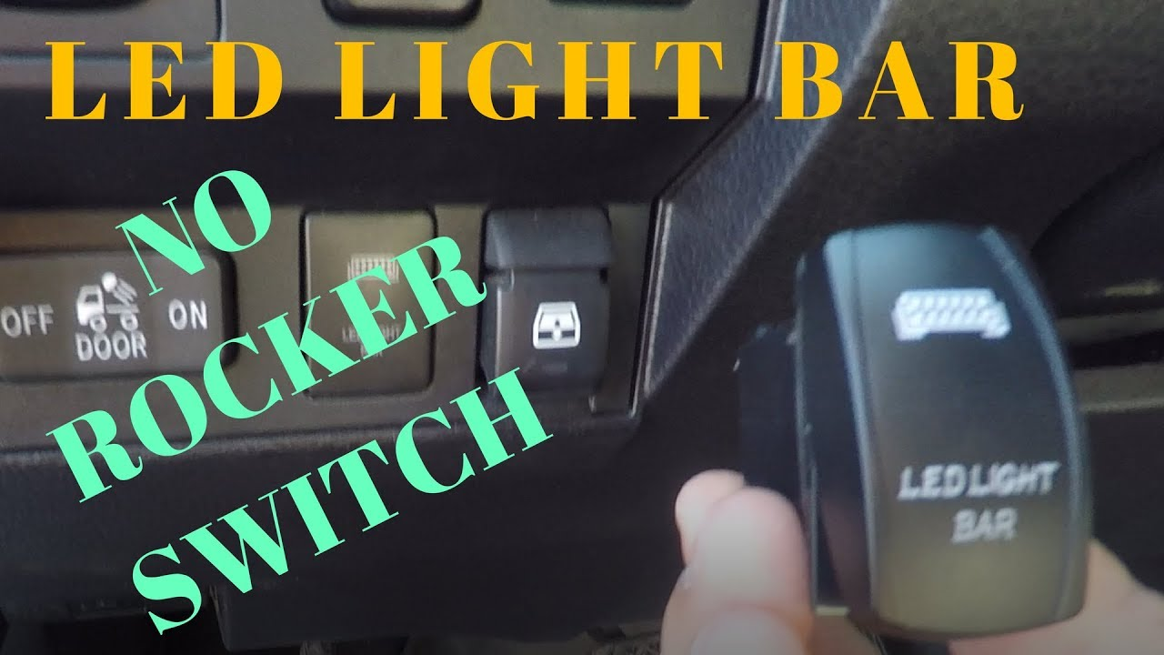Led Light Bar To Oem Switch Youtube Wiring A