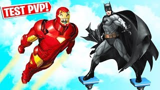 *FORTNITE QUIZ SUPERHEROES* BATTLE BETWEEN IRON MAN, BATMAN AND WONDER WOMAN Fortnite Minigames