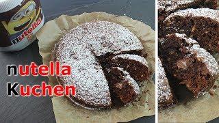 NUTELLA KUCHEN BACKEN | 10 Minuten Nutella Kuchen selber machen [einfach & schnell]