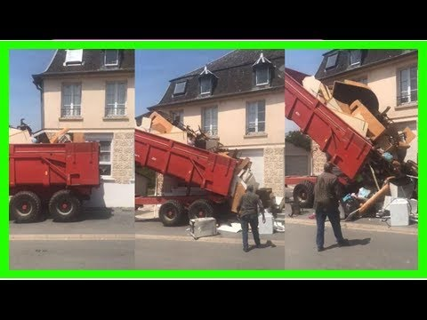 Dans l'Aisne, un propriétaire mécontent déverse les ordures laissées par ses anciens locataires deva
