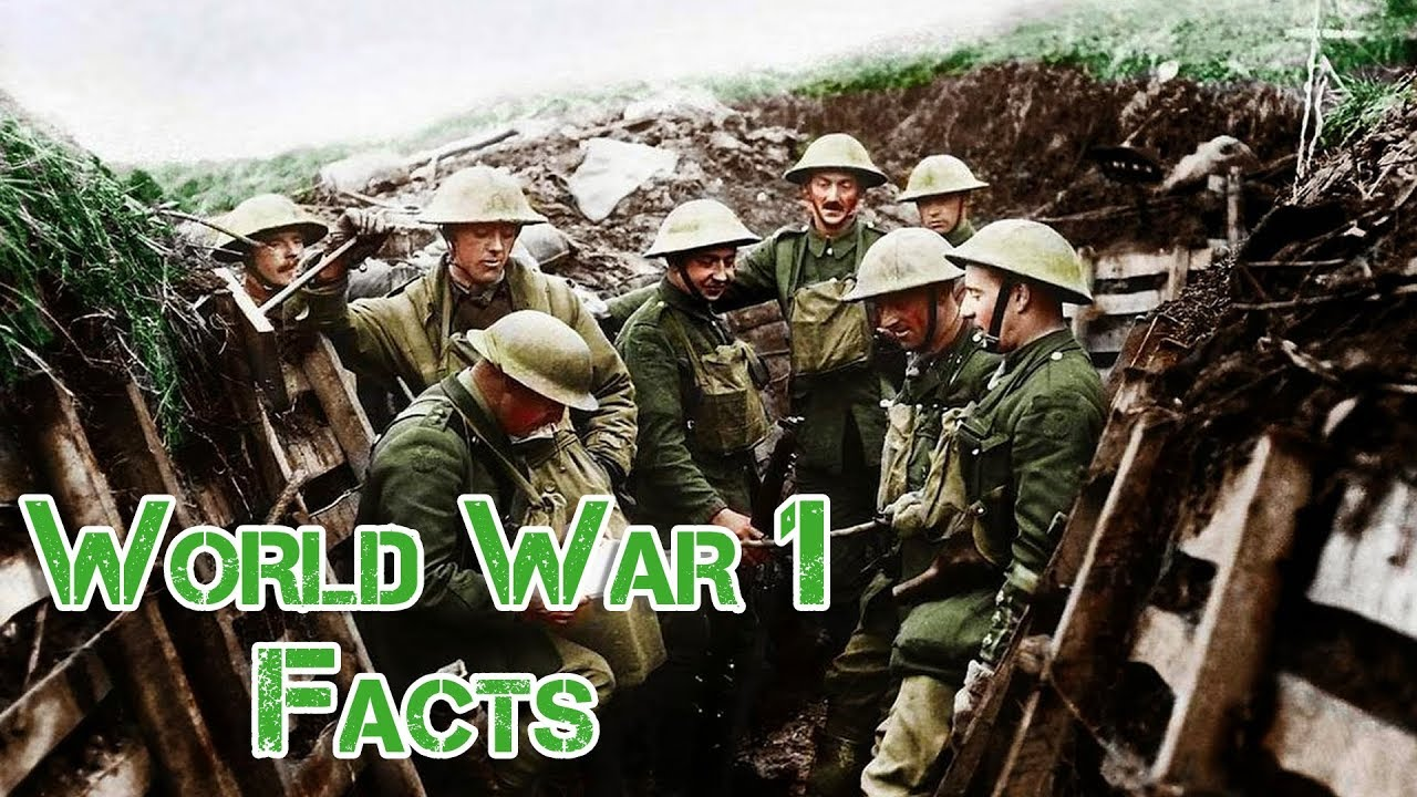 ww1 facts timeline