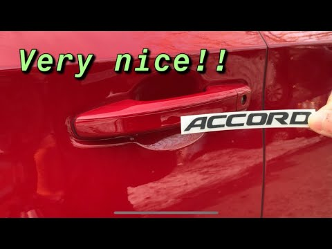 ACCORD LOGO ON DOOR HANDLES - HONDA ACCORD 2018