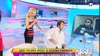 IMAGINI SOCANTE! Bataie in direct intre Simona Trasca si Miguel! Acces Direct
