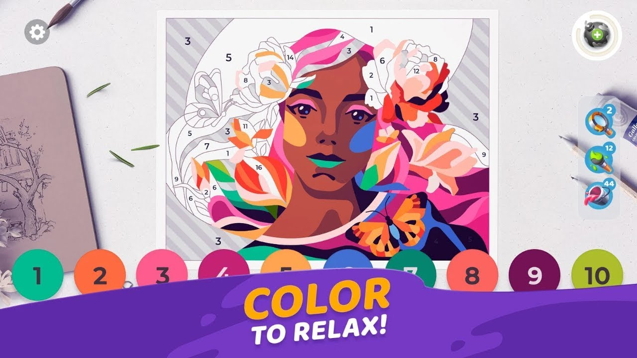 Gallery Coloring Book Decor Android Gameplay Youtube