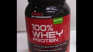 GNC Whey Protein for Health, Exercise and Body Building