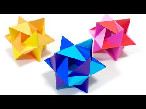 ユニット折り紙ヒッカケ Kusudama Modular Origami Hikkake