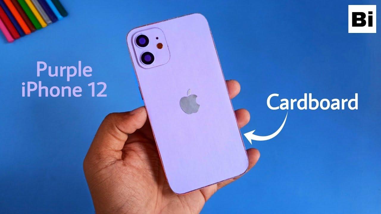 Diy iPhone 12 (Purple Edition) from Cardboard