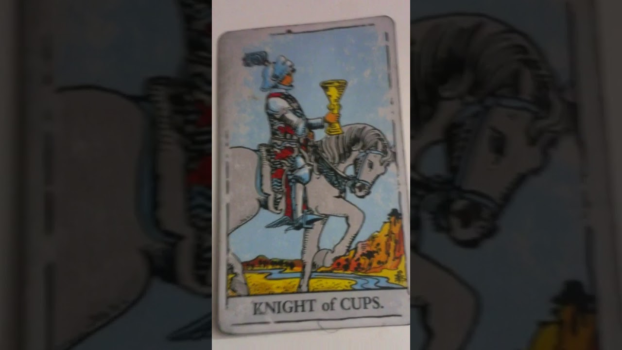 The Knight of Cups as Feelings in a Love Reading
