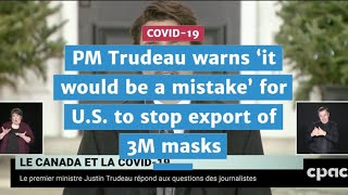 Trudeau warns Trump 'it would be a mistake' to stop export of 3M masks | COVID-19