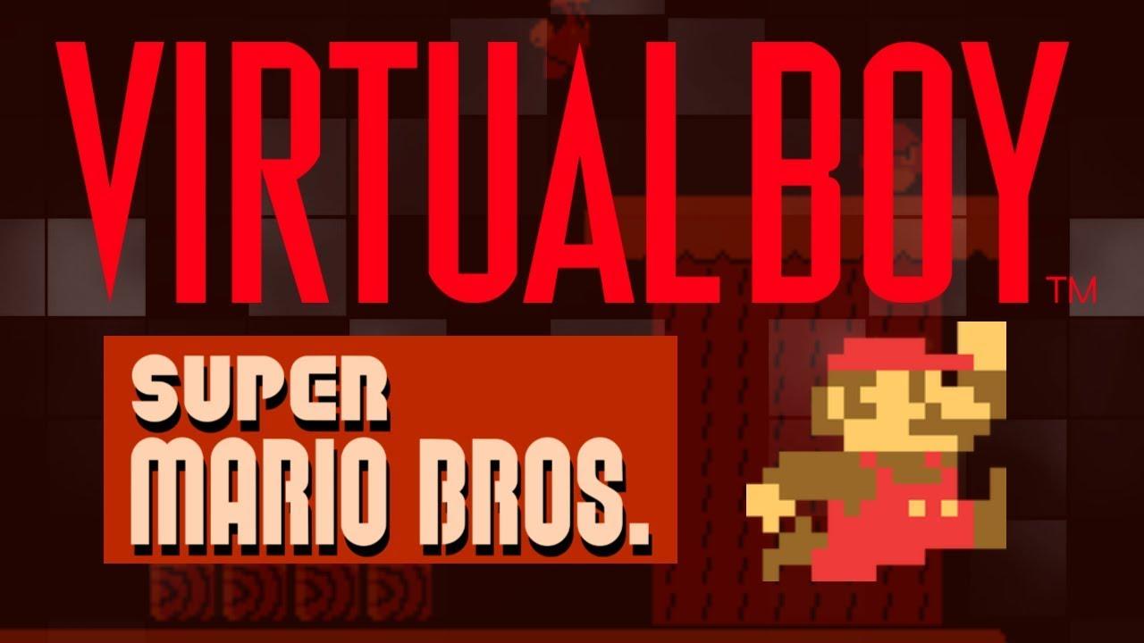 Virtual Boy Mario Super Mario Bros Nes Rom Hack Nintendo