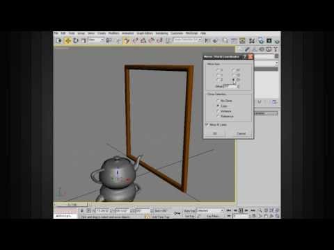 3ds Max Modeling Tips - Mirroring Objects