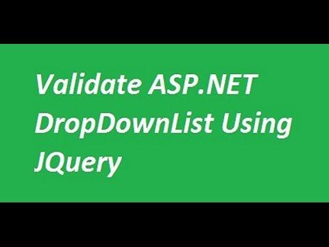 Validate Asp.net DropDownList Using JQuery
