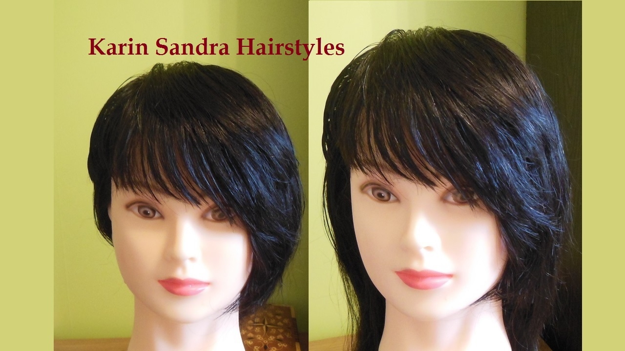 Bangs Side Swept Haircut Tutorial