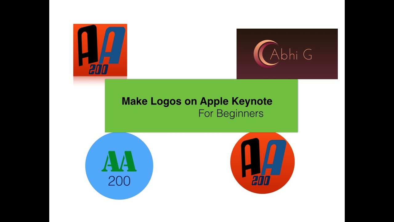 How To Make A Logo For Beginners Apple Keynote Youtube