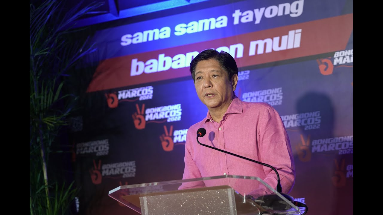 Bongbong Marcos Official Announcement