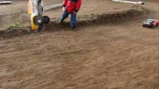 Blaine's Backyard Traxxas Slash Race Bloopers and Crashes (high speed camera)