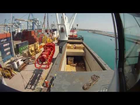 Loading General Cargo in Marsaxlokk, Malta. 3 day timelapse