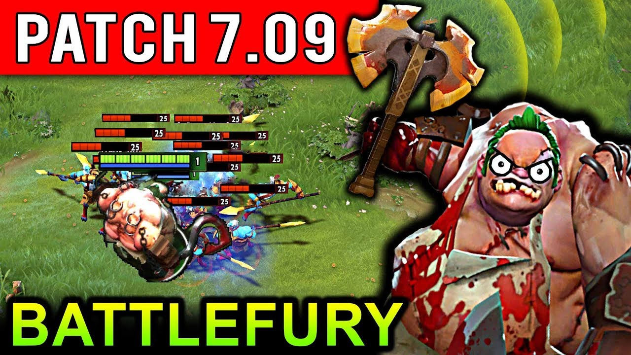 NEW PUDGE BATTLEFURY PATCH 709 DOTA 2 NEW META GAMEPLAY