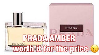 PRADA AMBER| SMELLS LIKE NICHE PERFUME | WORTHY FOR MONEY