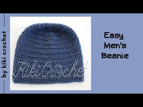 Crochet Mens Beanie Hat Youtube