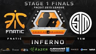 Fnatic vs TSM - Map 2 - Inferno (FACEIT 2015 League Stage 1 Finals)(Play on FACEIT for free: http://www.faceit.com FACEIT on Twitter: http://www.twitter.com/faceit FACEIT on Facebook: https://www.facebook.com/FaceitCommunity ..., 2015-05-03T20:56:38.000Z)