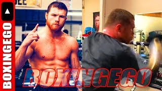 CANELO HAPPIEST HE'S EVER BEEN IN CAMP FOR ROCKY FIELDING STILL FAST HANDED (EWW) | BOXINGEGO