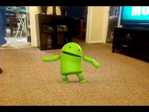Dancing android robot