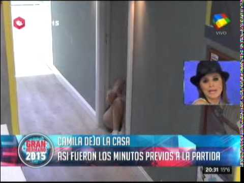 #GH2015 Así decidió Camila abandonar La Casa