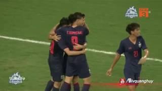 Highlights   U23 Thái Lan vùi dập U23 Indonesia trong cơn mưa bàn thắng   BLV Quang Huy
