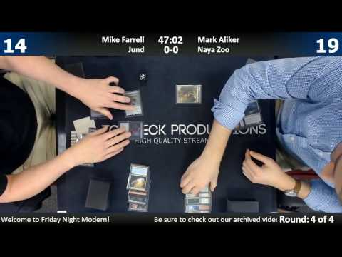 Modern 01/10/17: Mike Farrell (Jund) vs Mark Anliker (Naya Zoo)