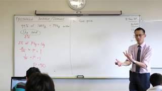 Percentage Increase/Decrease (2 of 2: Example question)
