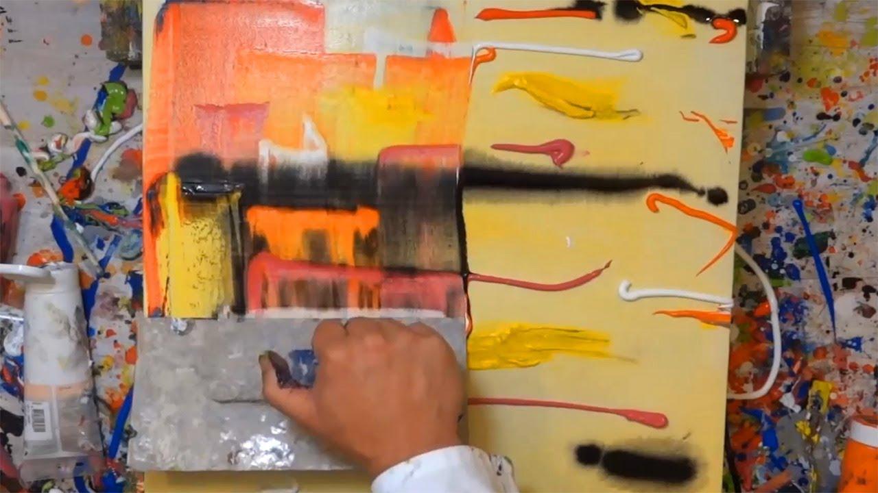 abstrakte malerei anleitung acrylbild strandspaziergang acrylmalerei gem lde abstrakte malerei. Black Bedroom Furniture Sets. Home Design Ideas