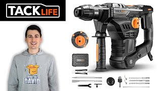 Hammer Drill Concrete // TACKLIFE TRH01A Rotary Hammer Drill Review