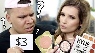 BOYFRIEND GUESSES MAKEUP PRICES! LOL!!