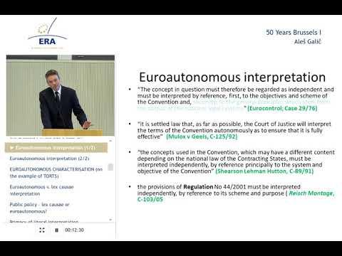 Brussels I regulation -  Ales Galic