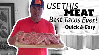 Best Tacos Ever With Special Meat - 100% Authentic - So Easy!