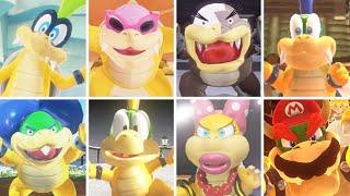 Super Mario Odyssey - All Koopaling Bosses