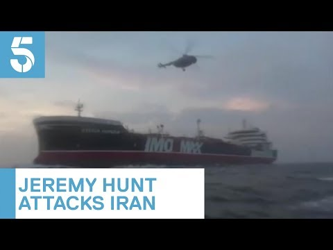 Iranian state TV releases footage of crew on-board British tanker   5 News