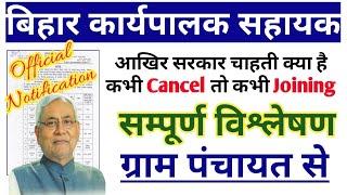 bihar executive assistant vacancy[samstipur Gram Panchayat BPSM] [Joining Letter][Selection process]