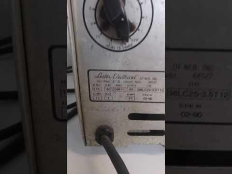 Checking a Lester 36 volt golf cart charger model 09611 for sale